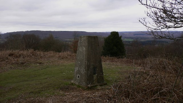 The triangulation pillar on Older Hill looking north