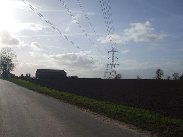 Pylons near Ealand Outgate