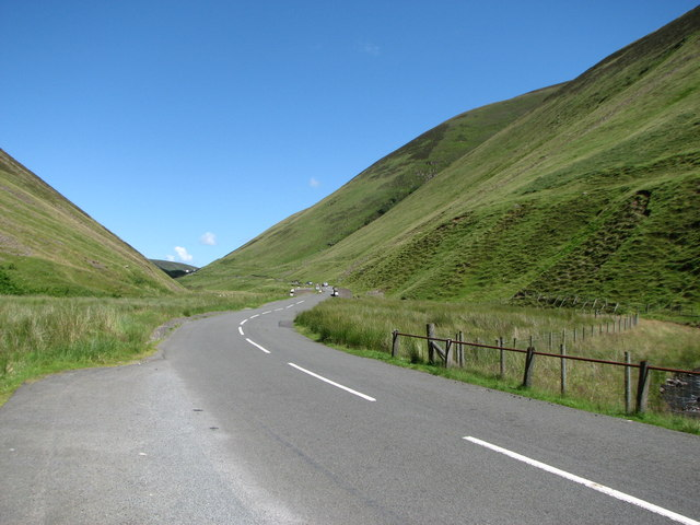 Moffat to Selkirk road at The Grey Mare's Tail