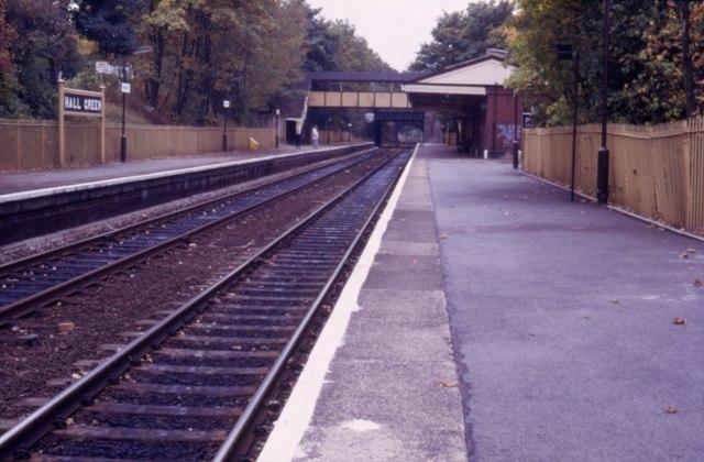 Hall Green Railway Station.