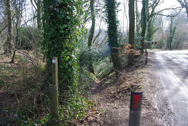 Footpath from Lutcombe Bottom meets Stoner Hill Rd