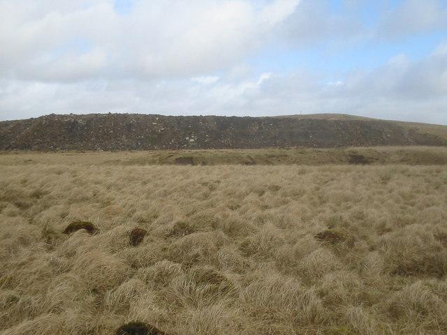 Slag-heap, opencast coal mine