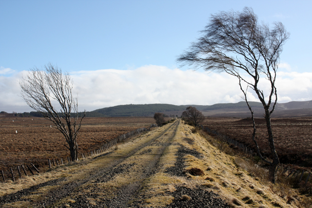 Track of the former Highland Railway