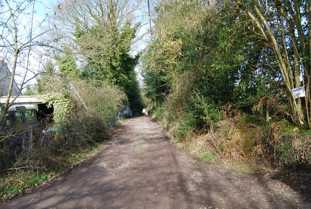 The track to Trooper Bottom from Honeycritch Lane