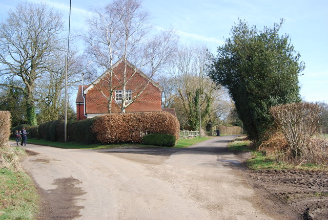The junction of Honeycritch Lane & Old Litten Lane