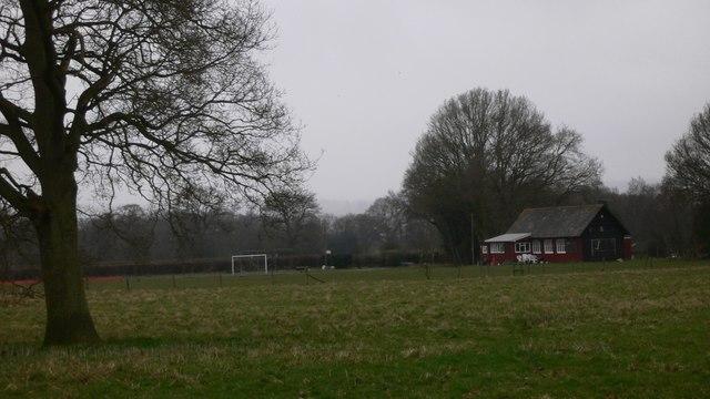 Playing field and pavilion at Wardley Marsh