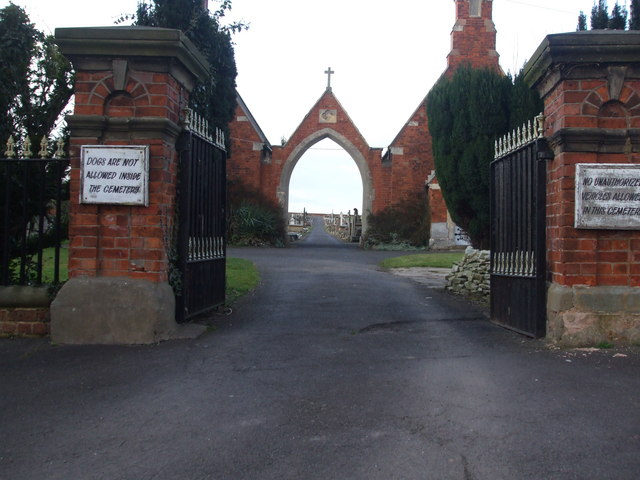 Entrance to Crowle Cemetery