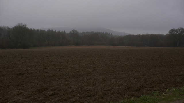 Large bare field at Slathurst Farm
