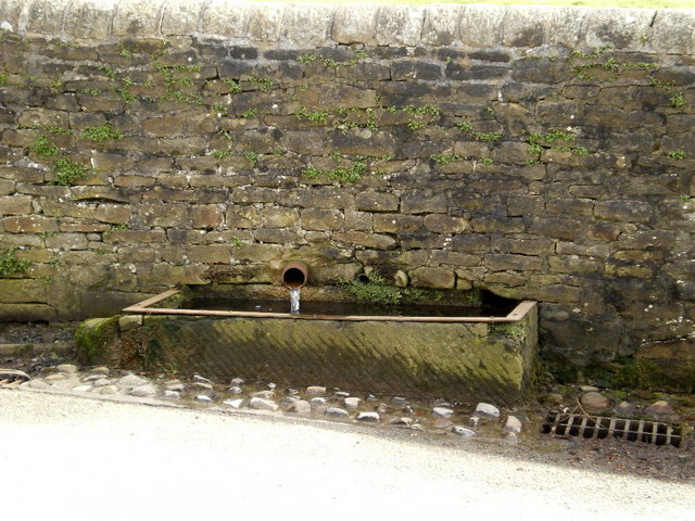 Stone trough opposite Chapel Fold