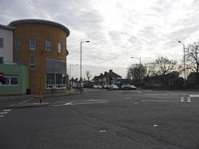 Junction of Hertford Road and Nags Head Road, Ponders End