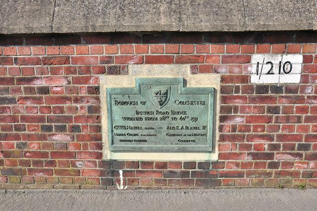Ipswich Road Rail Bridge plaque