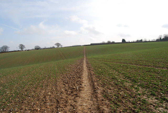 Footpath across a chalk field