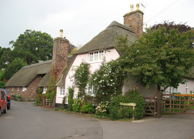 Pretty cottages at Priory Green, Dunster