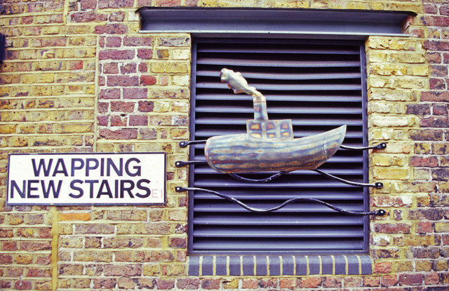 Sign for Wapping New Stairs