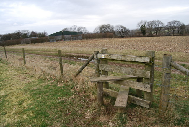 Stile North of The White Horse Public House
