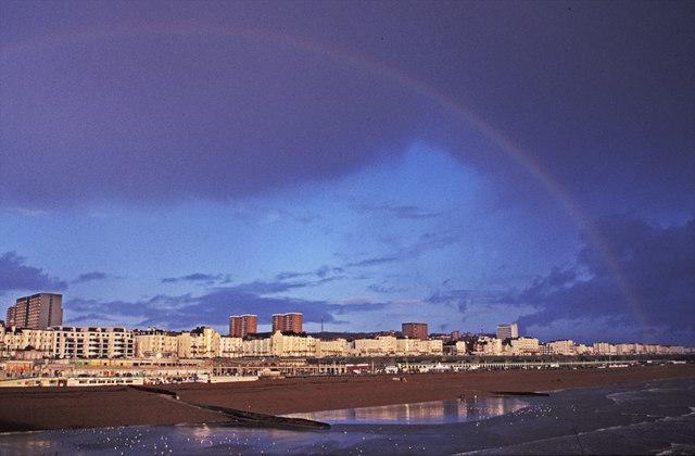 Rainbow over Brighton Beach