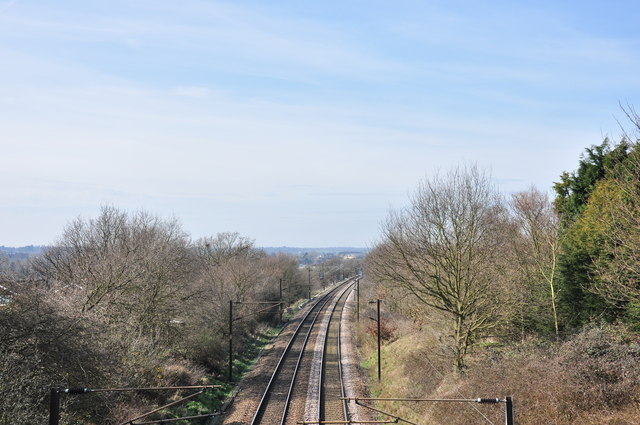 Looking west down the mainline