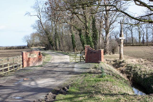 Corporation Farm access road