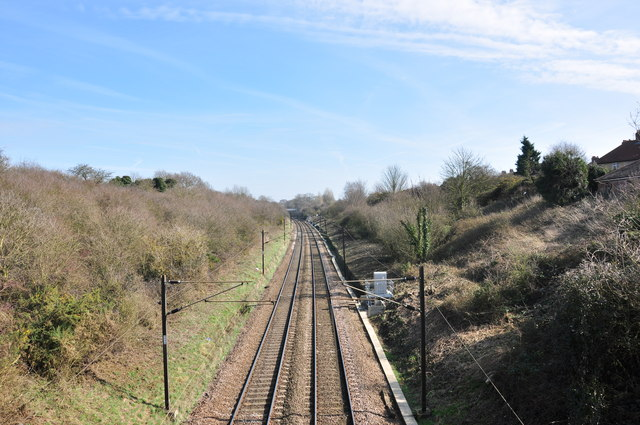 Looking east down the mainline