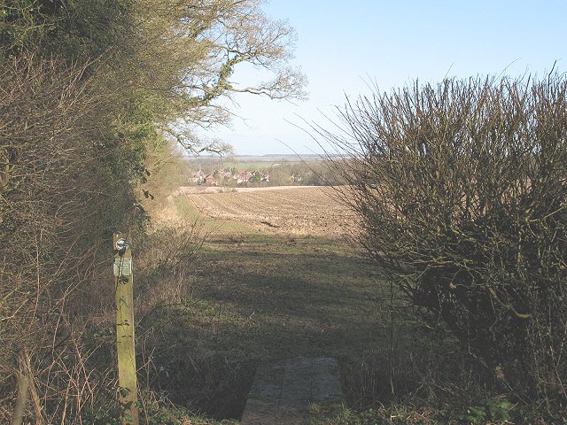 Start of the footpath to Turvey