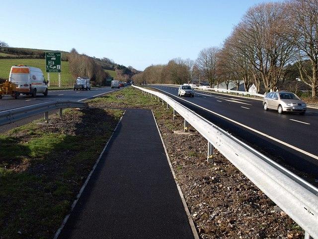 Footpath crossing, A38, Ashburton