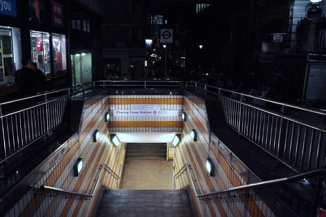 Charing Cross underground steps
