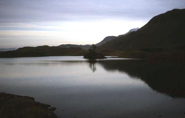 Dusk at Llynnau Cregennen