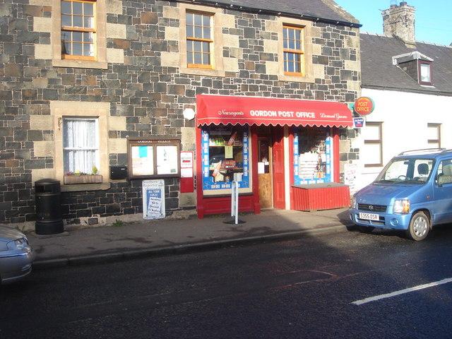 Gordon Post Office With Ludlow Post Box TD3