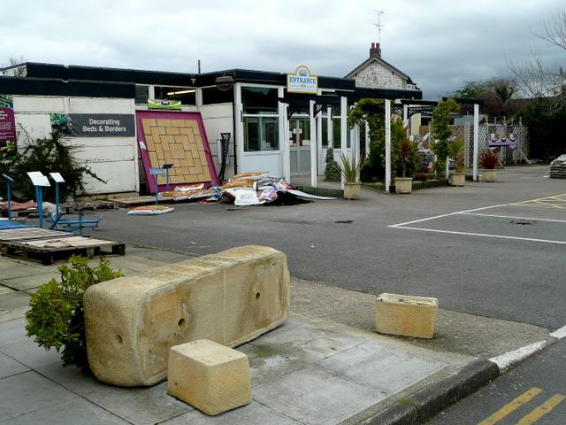 Entrance to Hurran's, Churchdown