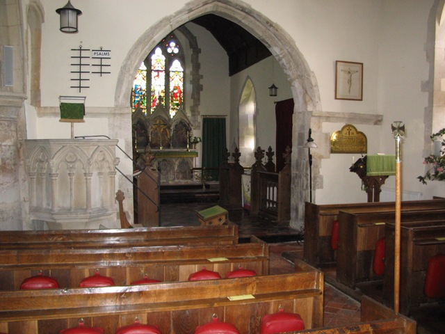 Interior of Buckland Church