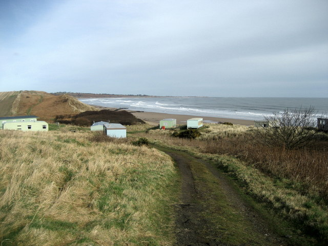 Caravan Site above Birling Carrs