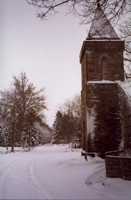 The church at Cray in winter