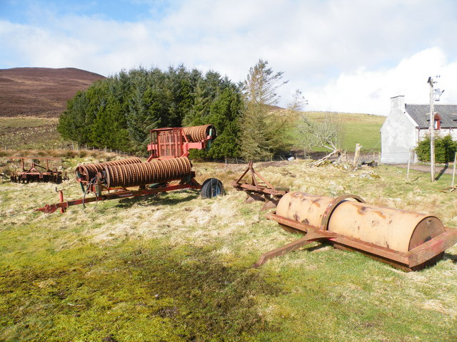 Farm Implements beside Achvaich Farm House
