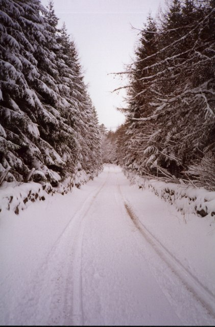 The road from Cray to Lair in winter