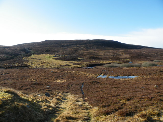 Argo Track crossing Moorland to River Evelix
