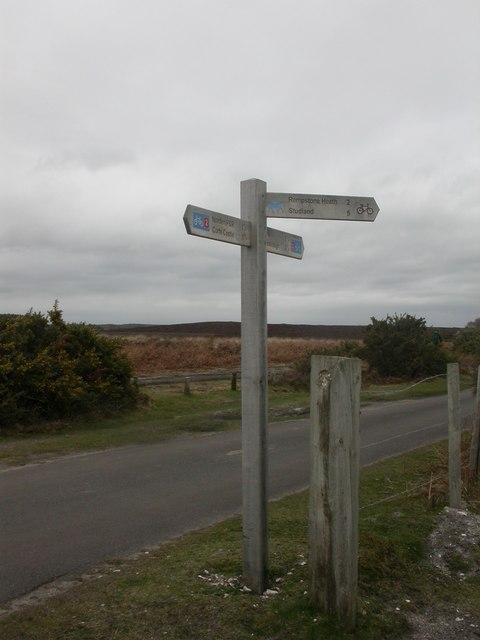 Hartland Moor, signpost