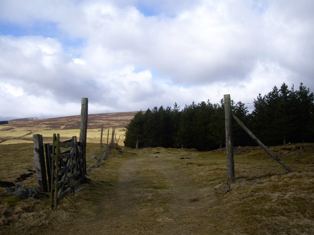 Open gate to Hay Hillock