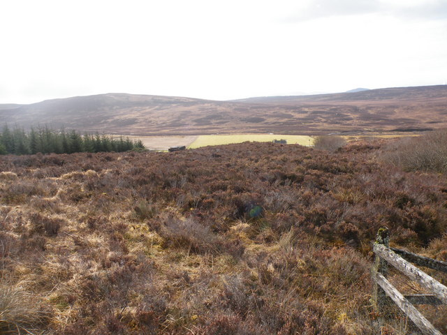 Looking South over Achormlarie from Water Supply