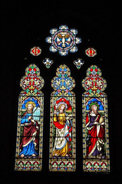 Stained glass window, Childswickham