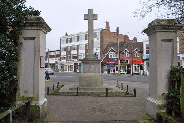 War memorial and High Street