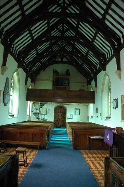 Interior of Childswickham church