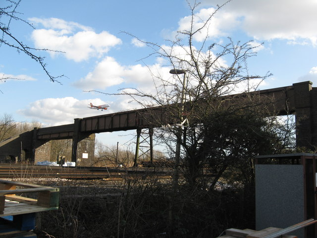 Footbridge over Railway, South of Gatwick Airport Station