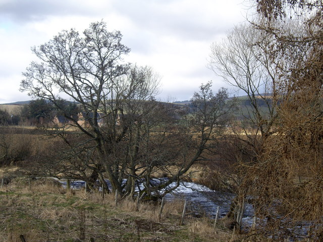 Weir on Leochel Burn