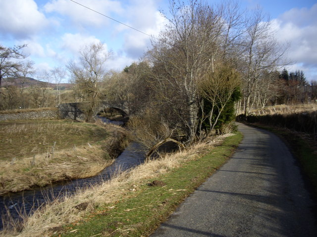 Downstream Leochel Burn