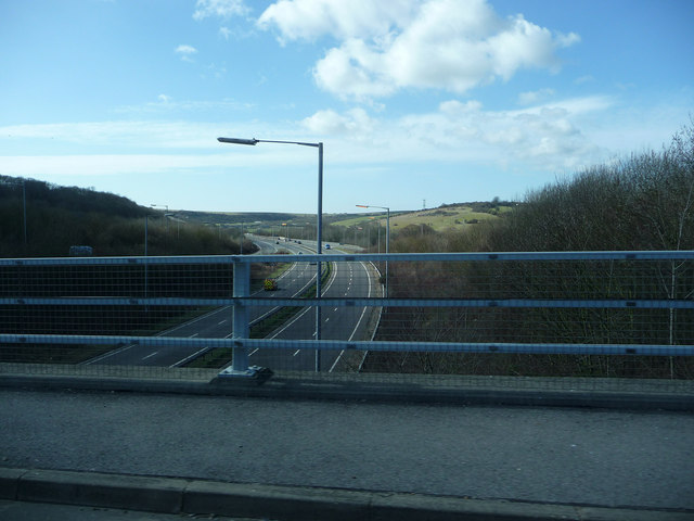A 27 looking west
