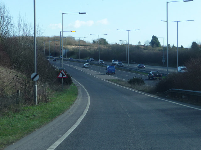 Joining the A27 eastbound