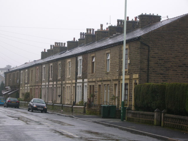 Victorian terrace on the B6325 in Helmshore