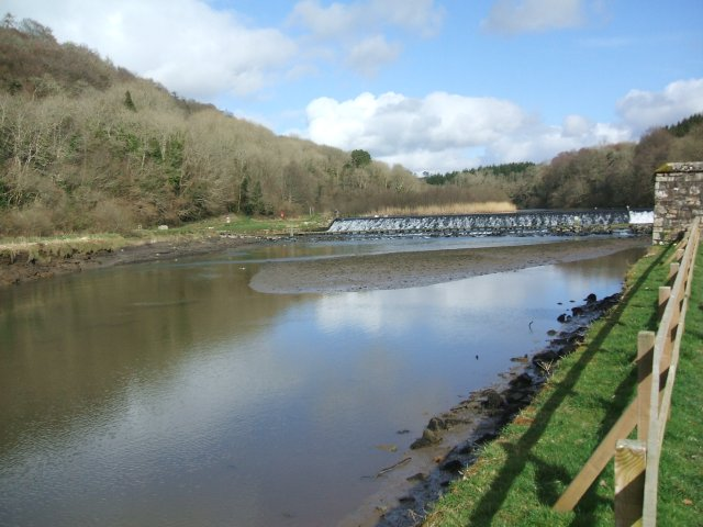 Lopwell Dam on the River Tavy near Plymouth