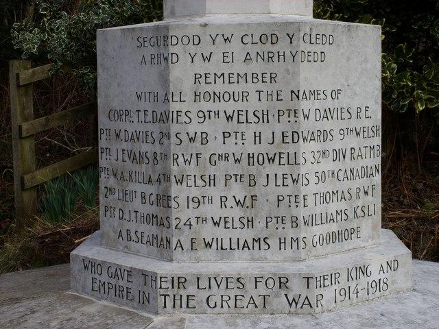 Llangynog War Memorial