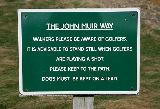 A sign at Dunbar Golf Course